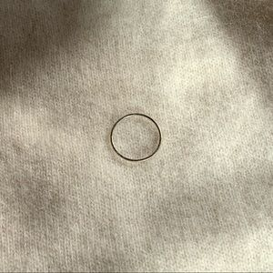 Vrai and Oro White Gold Ring. Size 5